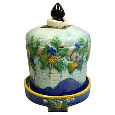Majolica Cheese Dome England 11""