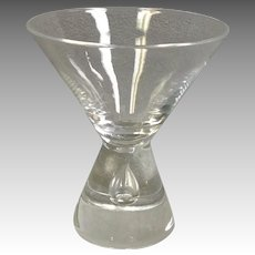 Steuben Martini Clear Crystal Glass #7826