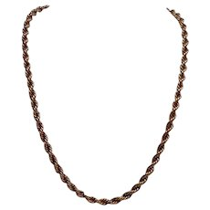 """Large Cable Twist Chain 10K 24"""" 35.4g"""