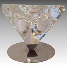 Steuben Sphere Tetra Ornament by Lloyd Atkins