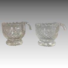Pair Georgian Anglo Irish Cut Piggin Cups Bowls