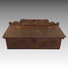 English Oak Bible Box 17th Century