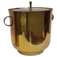 Brass Ice Bucket by Tommi Parzinger Mid-Century