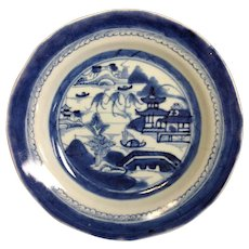 """Group 4 Canton Chinese Export 8 3/4"""" Dinner Plates 19th c."""