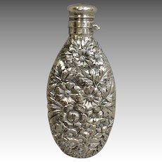 Gorham Flask Repousee Sterling #252