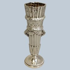 French Bud Vase Cupids Quiver A. Risler and Carre 950 Silver