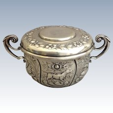 Irish Sterling Caudle Cup Repousse Hounds 1909