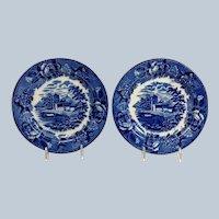 Pair Landscape Plates Etruria by Wedgwood