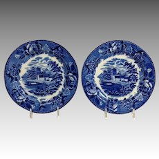 Pair Landscape Plates Etruria by Wedgwood