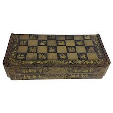 Black Gilt Lacquer Chinoiserie Game Board 19th Century