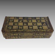 Black Gilt Lacquer Chinoiserie Game Board 19th Century