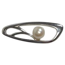 Mikimoto Cultured Pearl Tie Pin