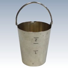 Napier Sterling Silver Jigger Bucket with Handle