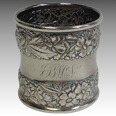 Sterling Napkin Ring Gorham Floral BMN Mono