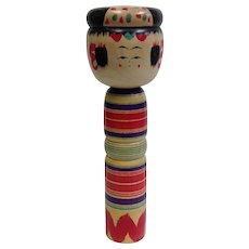 Kokeshi Doll Japanese Hand Made Artist Signed 12""
