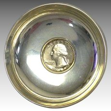 Coin Dish Sterling Silver Quarter B&M #760
