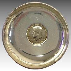 Sterling Coin Dish Kennedy Half Dollar