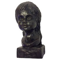 Bronze Head of a Young Girl by Billye 12/25