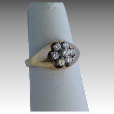 Cluster Diamond 14K Gold Ring