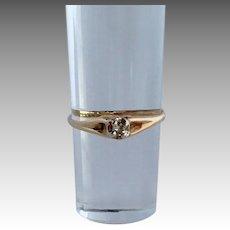 Diamond Promise Ring 14k Size 4.75