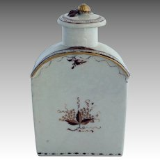 Chinese Export Porcelain Tea Caddy Late 18th c.
