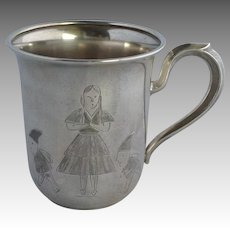 Christmas Elves and Child Sterling Cup