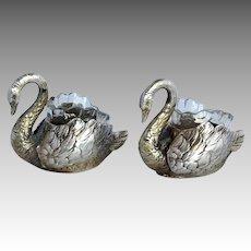 Two Individual Swan Salts