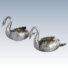Swan Salts Pair Master 800 Silver