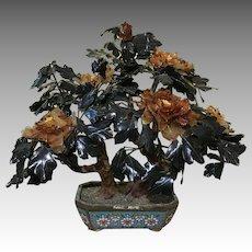 "Jade Tree 33"" Cloisonne Bowl Huge!!"