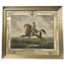Horse Mezzotint Champion Print England Childers 1755