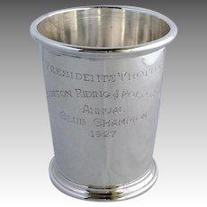 Mint Julep Houston Polo Presidents Trophy Sterling 1928