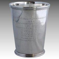 Mint Julep Scearce U S Polo Sterling Trophy