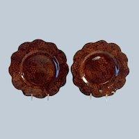Pair Wedgwood Paisley Plates