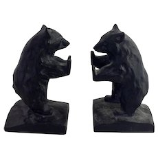 Standing Bear Cast Iron Bookends