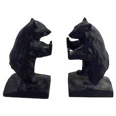 Standing Bear Cast Iron Bookends