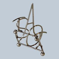 English Sterling Toast Rack Spells Toast by Heath & Middleton 1904