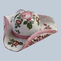 Tricorn Hat Battersea Enamel Patch Box 18th c