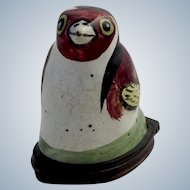 Battersea Bird Figural Bonbonniere or Snuff Box 18th c