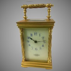 Brass Carriage Clock Mappin & Webb, London Late 19th c