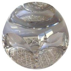 French Paperweight Cut Crystal By Cristallerie