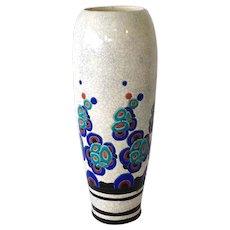 Catteau Art Deco Vase Tall 17.5""