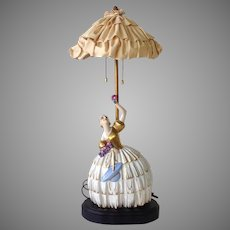 Art Deco Lamp Limoges Porcelain Lamp Circa 1920