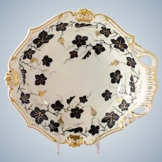 Bloor Derby Grape Pattern Shell Serving Dish 1820's