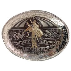 Western Buckle Sterling and Gold Economic Summit Houston 1990