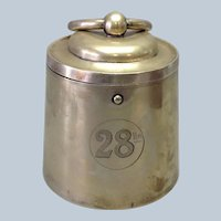 Scale Weight Biscuit Barrel English Silverplate