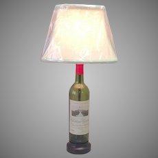Chateau Canon 1975 Wine Bottle Lamp