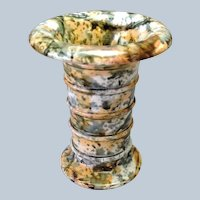 """Agateware Spill Vase Concentric Rings 5 1/8"""""""