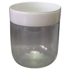 "Barovier & Toso Vase Clear White Border 9 7/8"""