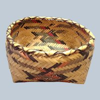 "Cherokee Woven Basket Polychrome Square 12"""