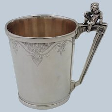 American Figural Child Sterling Cup 1870